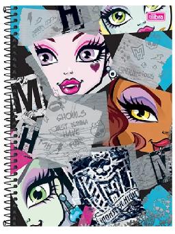 Imagem de Caderno 1 Matéria Univ Monster High 96fls Tilibra